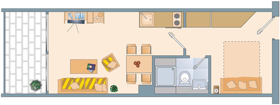 Appartement Grundriss midi